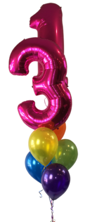 Pink Foil Number Balloon