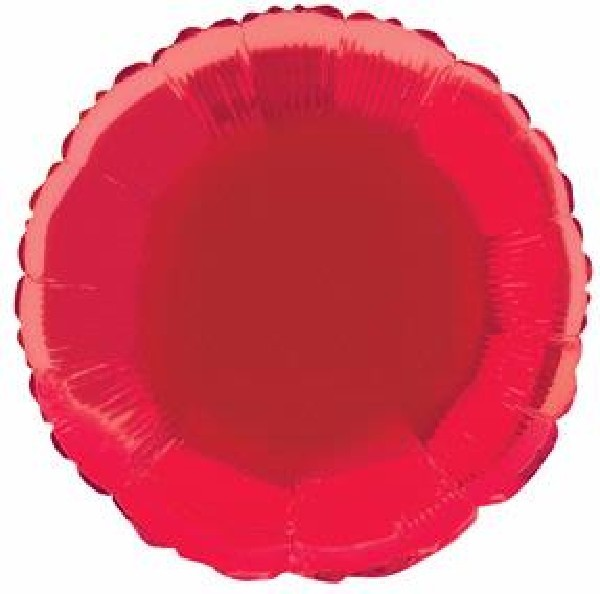 Red Round Foil Helium Balloon
