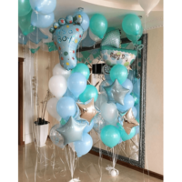 bouquet of balloons with the birth of a son