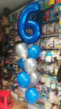 Number and Latex Balloons Bouquet