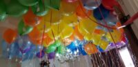 ceiling balloon with tags
